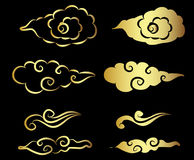 Gold Cloud tattoo Stock Photography