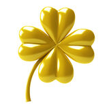 Gold Clover Royalty Free Stock Image