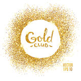 Gold club glitter background Stock Images