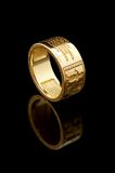 Gold club ring Royalty Free Stock Photos