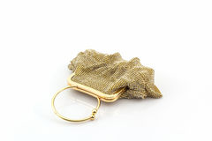 Gold clutch. Stock Images