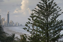 Gold Coast απόψεων παραλιών Στοκ φωτογραφίες με δικαίωμα ελεύθερης χρήσης