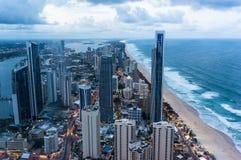 Gold Coast на сумраке Стоковое Изображение RF