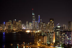 Gold Coast τη νύχτα Στοκ εικόνα με δικαίωμα ελεύθερης χρήσης