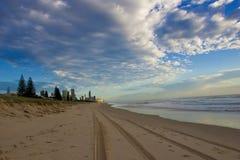 Gold Coast al crepuscolo fotografia stock libera da diritti