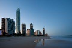 Gold Coast au crépuscule Image stock