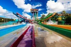 GOLD COAST, AUS - 20. MÄRZ 2016: AquaLoop in Wet'n'Wild Gold Coast Lizenzfreie Stockfotografie