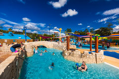 GOLD COAST, AUS - MAR 20 2016: Junior section of Wet'n'Wild Gold Stock Image