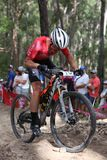 21st Commonwealth Games, Mountain Biking, Gold Coast, Queensland. GOLD COAST, AUSTRALIA - APRIL 12: Dylan KERFOOT-ROBSON during the Men`s Cross Country Mountain Royalty Free Stock Image