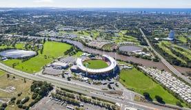 GOLD COAST, AUSTRALIA – JUNE 16: Aerial view of Metricon Stadi Royalty Free Stock Photography