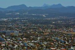 Gold Coast bakland och surfareparadis i Austral Queensland arkivbild