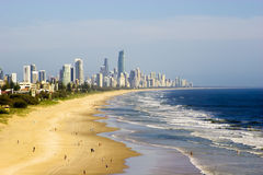 Gold Coast beach. Sunrise over the Gold Coast beach, Australia