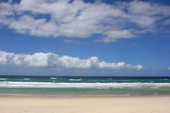 Gold Coast beach in Australia stock images