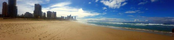 Gold coast beach Royalty Free Stock Image