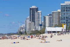 Gold Coast beach and skyscrapers Stock Photography
