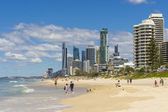 Gold Coast beach and skyscrapers Stock Photo
