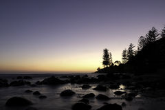 Gold coast beach. View of the gold coast beach waves  in the afternoon Queensland Australia Stock Photography