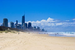 Gold Coast at beaches Royalty Free Stock Photography