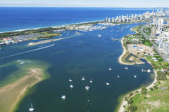 Gold Coast Broadwater Arkivfoto