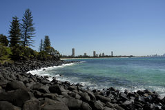 Gold Coast Burleigh Heads. Image taken from burleigh heads of surfers paradise on the gold coast Royalty Free Stock Images