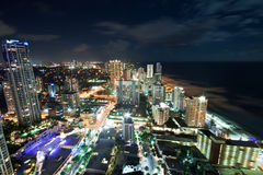 Gold coast city at night Stock Photos