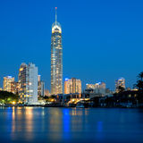 Gold Coast City Skyline at night Royalty Free Stock Photos