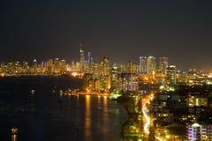 Gold Coast en la noche Imagenes de archivo