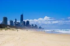 Gold Coast en las playas Fotografía de archivo libre de regalías