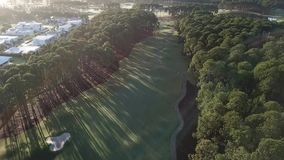 Golf Course Hope Island, morning light 5 am over looking gold coast stock footage