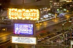 LAS VEGAS, NV - Gold Coast Sign stock photo
