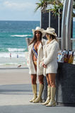 Gold Coast meter maids in Surfers Paradise, Australia. Gold Coast, Australia - July 11, 2017: Gold Coast meter maids in Surfers Paradise. Meter maids are Royalty Free Stock Photography