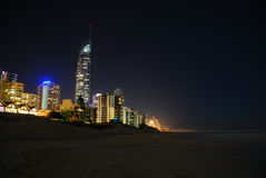 Gold Coast at night Royalty Free Stock Images