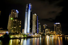 Gold Coast Night Life. Image taken of Gold Coast Night, High Rises Royalty Free Stock Images