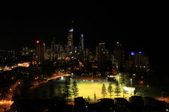 Gold Coast at Night stock photography