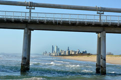 Gold Coast Pier at the Spit -Queensland Australia Royalty Free Stock Images