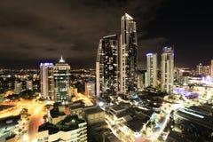Gold Coast por noche imágenes de archivo libres de regalías