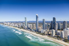 Gold Coast, Queensland, Australia. Aerial view of Gold Coast, Queensland, Australia stock image