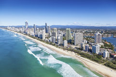 Gold Coast, Queensland, Australia. Aerial view of Gold Coast, Queensland, Australia royalty free stock image