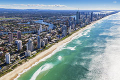 Gold Coast, Queensland, Australia. Aerial view of Gold Coast, Queensland, Australia royalty free stock images