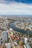 Gold Coast Queensland Australia - Nerang River aerial view - Sur Royalty Free Stock Photo