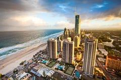 Gold Coast Queensland Australia Q1 Evening Scene stock images