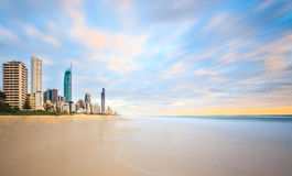 Gold Coast, Queensland, Australia. View of Surfers Paradise from the beach at Gold Coast, Queensland, Australia Royalty Free Stock Photo