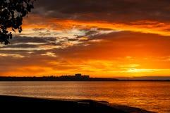 Gold Coast solnedgång Arkivbilder