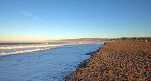 Gold Coast Surfers Knoll beach with tidal erosion at Ventura California USA. Gold Coast Surfers Knoll beach with tidal erosion at Ventura California United stock photography