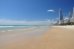 Gold Coast - Surfers Paradise. Beach view of Surfers Paradise at the Gold Coast - Queensland, Australia Stock Photos