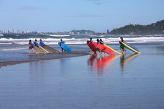 Gold Coast surfing royalty free stock image