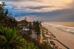 Gold Coast tempestuoso Foto de archivo libre de regalías
