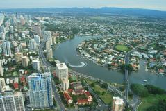 Gold Coast View. Aerial view of Gold Coast, Queensland, Australia Stock Image