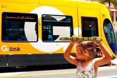 Gold- Coastlicht-Schiene G - Queensland Australien Stockfotografie