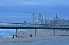 Gold- Coastpier am Spucken - Queensland Australien Lizenzfreie Stockbilder